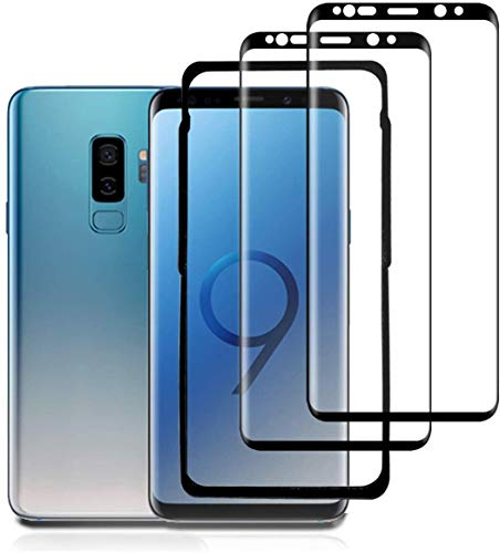 ZOUXCC S9 Screen Protector Glass (2 PACK) (Alignment Frame Tool), S9 Screen Protector Tempered Glass Full Cover/ 3D Curved/Case Friendly/HD Crystal Film for Samsung Galaxy S9
