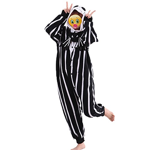 The Nightmare Before Christmas Jack Skellington Skeleton Romper Adult Men Women Unisex Animal Kigurumi Cosplay Pajamas Outfit Nonopnd Nightclothes Onesies Halloween Costume Clothing S151CM 161CM
