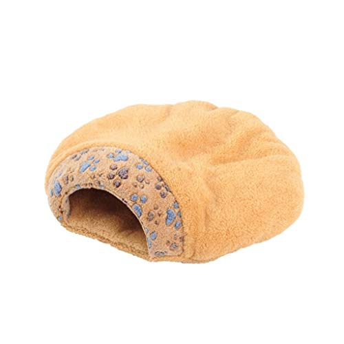 Onnear ronde grot huisdier geschikt voor katten en kleine Chihuahuas, deken voor warmte en veiligheid, knuffelig huisdier bed met duurzame stoffen Medium