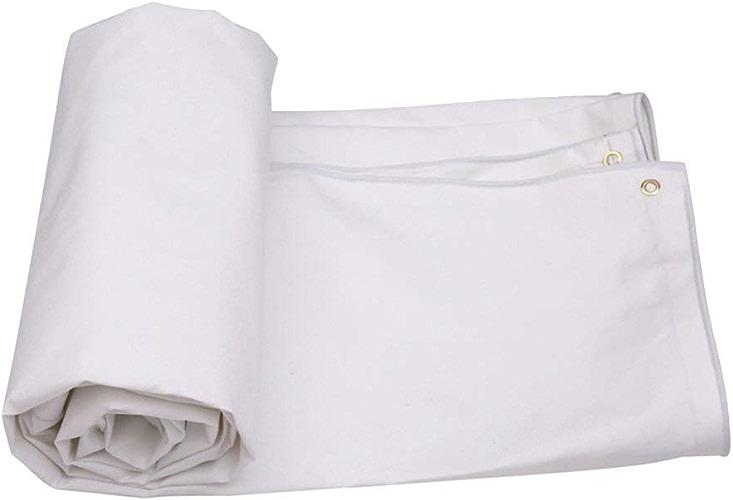 Bache résistante blanche, couverture de pluie de jardin de bache de toit imperméable, bache de camping, bache imperméable de toile, tapis de feuille de terre ( Couleur   Blanc , taille   400300cm )