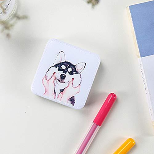 XuBa Mini batería de alimentación de Dibujos Animados Lindo 10000Mah batería Externa Powerbank de Carga portátil para el teléfono White Silly Dog