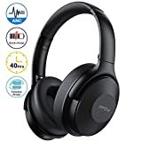 Mpow Active Noise Cancelling Headphones, [2020 Version] Bluetooth Headphones Over Ear with 40H Playtime, Built-in Mic, Quick Charge, Wired/Wireless Headset for Travel, Online Class, Home Office, TV