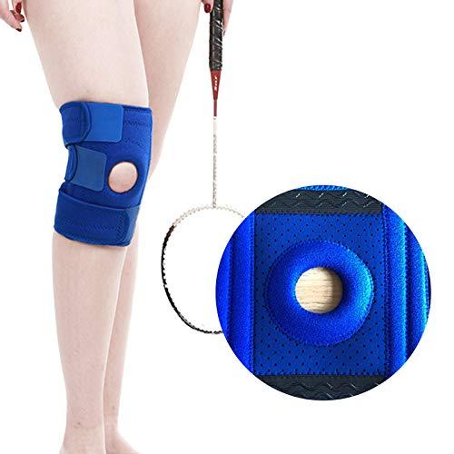 Sebasti Rodillera soporte de la abrazadera de deportes al aire libre equipo de protección azul de una pieza para la venta Tamaño: 58 * 19CM material-goma y paño de OK