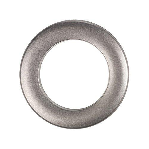 Rufflette Jupiter Rings, Polyacrylic, Brushed Steel, 12-Piece