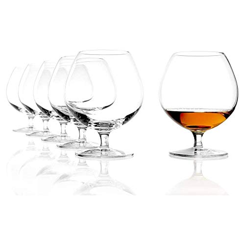 Stölzle Lausitz New York Bar Copa de coñac 585 ml, Set de 6 Copas de