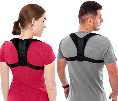 Unisex Back Brace Posture Corrector for Men and Women, Adjustable Back Straightener & Upper Back Brace Support & Pain Relieve for Shoulder, Neck & Back