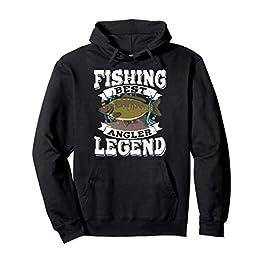 Carp Fishing Legend Carpiste Meilleur Pêcheur Cadeau Peche Sweat à Capuche