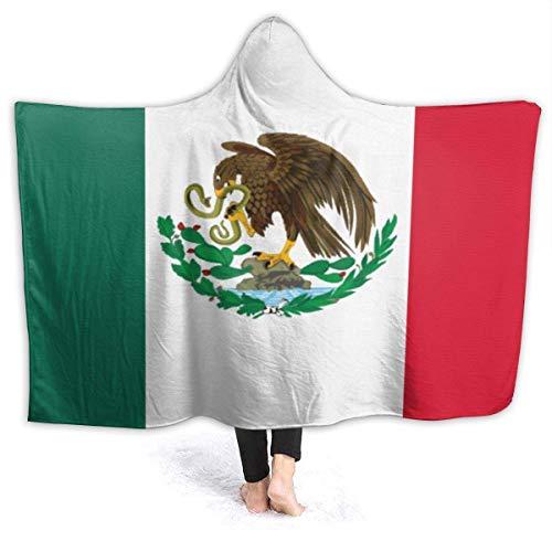FJXXM Throw Blankets,Mantas De Franela Unisex con Bandera De México, Manta De Sofá Plegable para Sala De Estar Casera,153x204cm