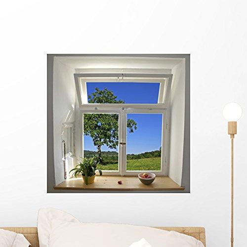 "Wallmonkeys WM205761 Window View Peel and Stick Wall Decals W x 18 in H, 18"" 18"" H-Small"