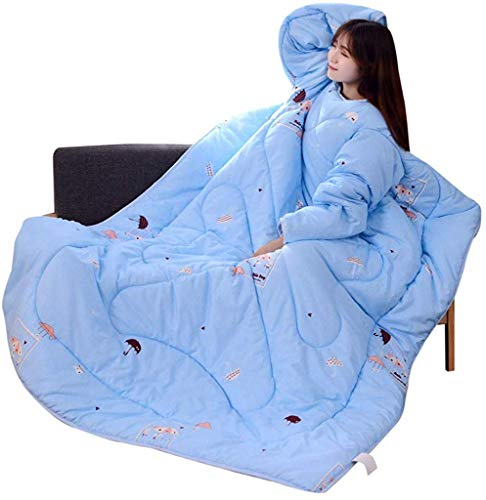 AMYZ Lazy winter quilt with sleeves thick warm winter quilt quilt washed thickened sleeping bag blanket(G,120 * 160cm)