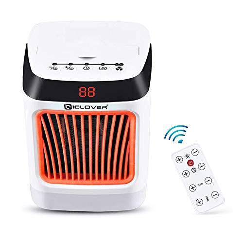 CHENMAO Calentador de espacio - Portable Temporizador de escritorio Fast Calefacción Ventilador con LED de protección contra sobrecalentamiento de visualización en pantalla Luces de la noche con 8 mod