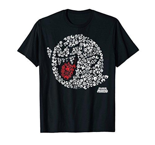 Nintendo Super Mario Iconic Boo Portrait Graphic T-Shirt T-Shirt