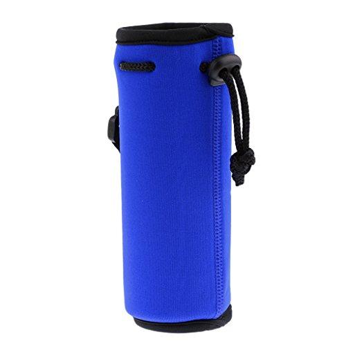 Milageto Portador de Botella de Agua de Neopreno 500ML con Aislamiento de Viaje - Azul