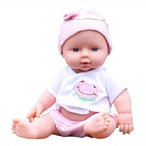 Fovely Körper Babypuppe, Puppensammlung Weicher Körper Kaukasisches Baby 30 cm Puppe Vinyl Lebensechte Babyspielzeug für Kinder Jungen Mädchen