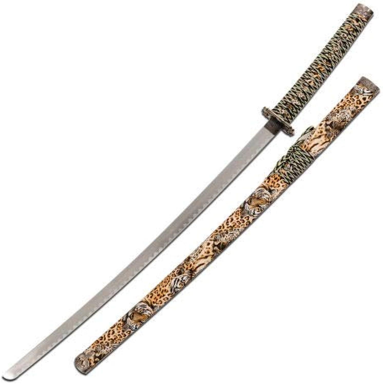 Decorative Samurai Katana Sword - Tiger Leopard - SW-81TG