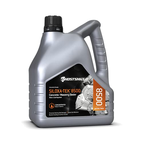 Siloxa-Tek 8500 Ultra Concentrate - 1 Gallon (Makes 5 GALLONS) Penetrating Concrete Sealer Water and Salt Repellent. Clear Water-Based DOT Approved Silane/Siloxane for Concrete Brick Masonry & Pavers