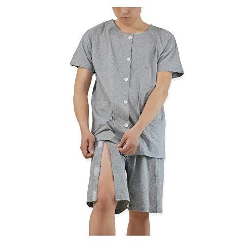 Patientenversorgung Kleidung Anzug-Inkontinenz-Oberteile und Hosen-Kleidung für Patienten mit Behinderung in der älteren Chirurgie,XL