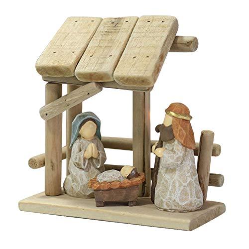 Natividad Figuras Navidad - Belén De Navidad   Figuras Para Belenes De Resina De Navidad De Portal Y Nacimiento, Natividad Nacimiento De Madera, Figuras Para Belenes Navideños Decoracion