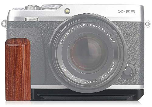 WEPOTO XE3-R Hand Grip Quick Release Plate L Bracket QR Plate Compatible with Fujifilm X-E3 Camera -Aluminium Padauk