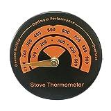 Timetided Termómetro magnético de la chimenea del horno del tubo de la estufa de leña con la herramienta casera de la sonda de sensibilidad