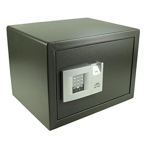 BURG-WÄCHTER Möbeltresor mit elektronischem Zahlenschloss und Fingerscan, Point-Safe, 38,8 l, 20,5 kg, P 3 E FS, Schwarz