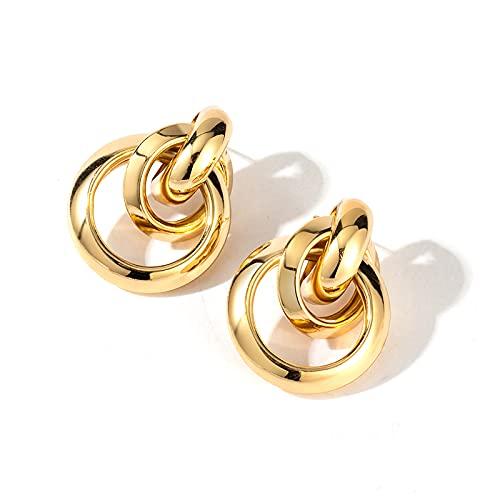 Orecchini Orecchini da donna Orecchini in oro insoliti Orecchini per le donne Geometria d'epoca coreana orecchini in metallo 2021 gioielli femminili moda alla moda Orecchini a lobo per le donne