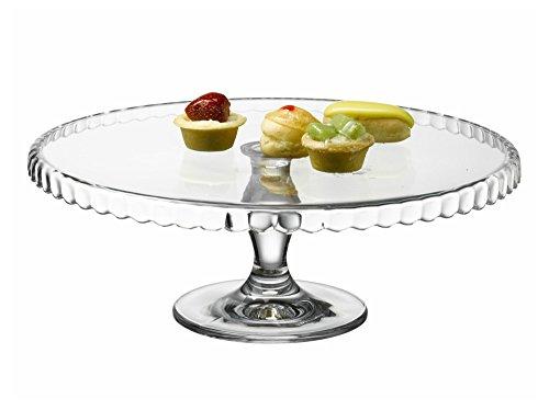 Pastelería para tartas con forma de campana extractora de plato para tartas con en el pie de Pasabahce 32 cm
