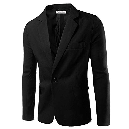 Giacche da Uomo Casual Giacche da Uomo Slim Fit Blazer One Button Suit Cappotto Solid Casual Top