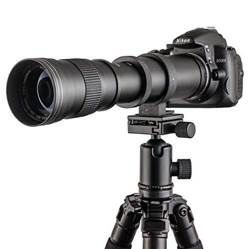 Fotga 420 800mm f / 8.3 16 Manual Super Teleobjetivo Zoom Lente + T2 Canon para Canon EOS 1D 5D II III IV 6D 7D 40D 50D 60D 100D 450D 500D 550D 600D 700D 1000D 1100D 1200D DSLR Cámara