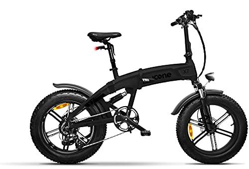 "icone Total Deep Black Fat-Bike - Bicicleta eléctrica Plegable con pedaleo asistido 20"" 250 W Icon.E iCross X7 Juventud Unisex, no Talla"