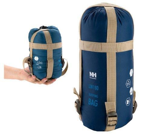 Naturehike Nylon Outdoor Envelope Sleeping Bag (Dark blue)