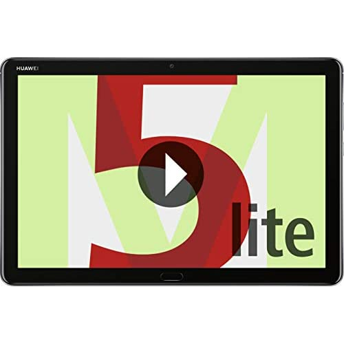Huawei Mediapad M5 Lite WiFi Tablet-PC (25,6 cm (10,1 pollici) Full HD, 64 GB di memoria interna (espandibile), 4 GB RAM, impronte digitali, Harman Kardon Speaker + 5 EUR di buono Amazon, Grigio