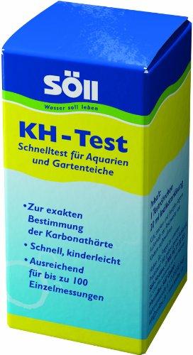 Söll 14066 KH-Test 20 ml - Wasseranalyse Test zur exakten Messung der Karbonathärte KH-Wert für Aquarium und Teichwasser aus Gartenteich Fischteich Schwimmteich