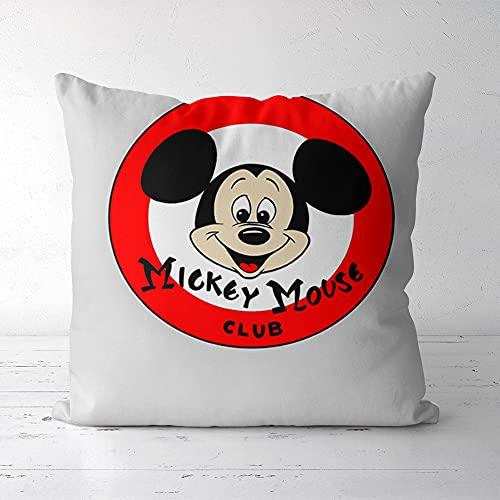 Funda de Almohada Estampada Almohada The Mickey Mouse Club Lisi Velvet 40x40cm Favor de decoración del hogar, con Cremallera Invisible Sofá Dormitorio Sala de Estar Coche Decorativo
