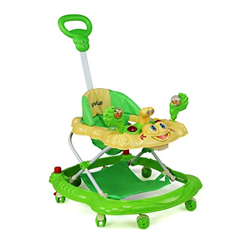 Luvlap Sunshine Baby Walker, Height Adjustable with Light & Music Toys, 6m+ (Green)