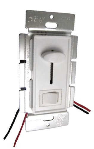 PWM LED Slide Dimmer 8A (Wall Plate) Low Voltage 12v/24v DC (Bottom Switch)