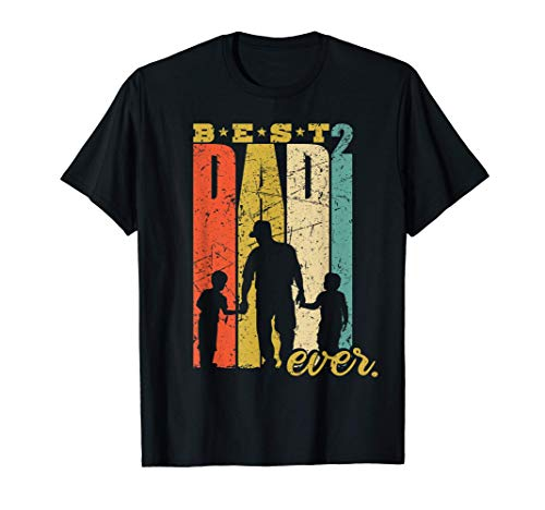 Hombre El mejor papá Padre 2 hijos padre de dos Camiseta