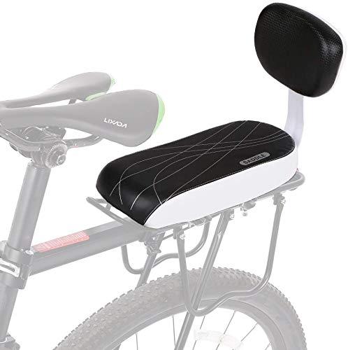 AUVSTAR Asiento Bicicleta Niño,Cojín para Asiento Trasero de Bicicleta,Asiento con Respaldo De Esponja Suave Y Grueso Seguro Cómodo para Niños O Adultos,Accesorios para Bicicleta.