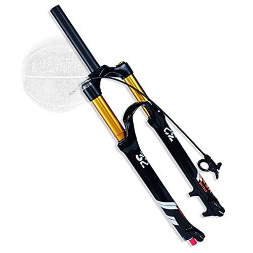 VPPV Horquilla Bicicleta MTB 26 27,5 29 Pulgadas Recorrido 140mm Aleación de Aluminio 1-1/8' Tubo de Dirección Sin Rosca Horquilla de Amortiguador Montaña (Color : Remote Lock A, Size : 27.5 Inch)