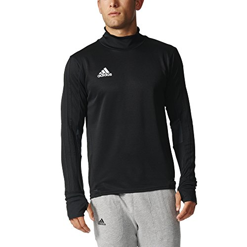 Adidas Tiro 17 Mens Soccer Training Top XL Black-Dark Grey-White