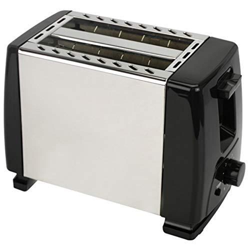 L.BAN Tostadora automática, tostadora con 2 Ranuras de Ancho Ancho para hasta 4 Discos, 6 peldaños de Seda con Rollo Caliente para Croissants, Bagels