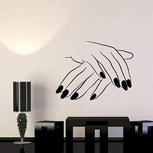 Perro Paw Print Heartbeat Vinilo Arte Decoración Para El Hogar Pegatinas De Pared Tienda De Mascotas Veterinaria Calcomanías Para Ventanas Murales Extraíbles Papel Tapiz 56X20 Cm