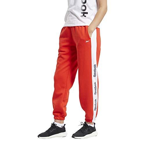 Reebok Te Linear Logo FL Pant – Pantaloni da Donna, Donna, Pantaloni, FT0905, Rosso (insred), XXS
