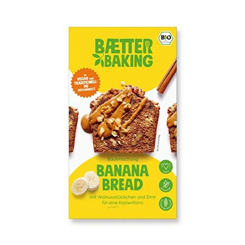 Baetter Baking Bio-Backmischung Banana Bread, 309g, glutenfrei, vegan & mit Kokosblütenzucker