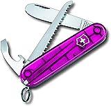 Couteau de poche My First Victorinox H (9 fonctions, lame à bout arrondi, scie à bois) rose