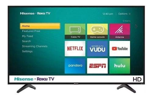 TV Hisense 40' 4K Smart ROKU 40H4030F Renewed