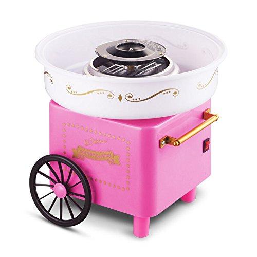 Flyelf Carrello Retrò Macchine per zucchero filato Cotton Candy Famiglia Rosa