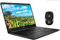 2020 最新 HP Notebook 14 スリーク ラップトップ コンピュータ 14インチ HD アンチグレア マイクロエッジ ワイドスクリーン デュアルコア AMD Athlon Silver 3050U 4GB RAM 128GB SSD、ウェブカメラ Type-C Windows 10 + iCarp Mouse