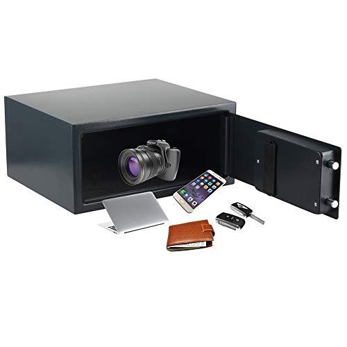 YXX- Safe Tresor Möbeltresor Großer Safe für Laptop, Dokumente, Geld, Home Office, Hotel- und Geschäftsgebrauch - mit digitaler Tastatur und Tastensperre, schwarz
