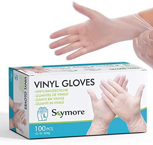 Skymore 100 Stück Einweghandschuhe für Küche und Haushalt L